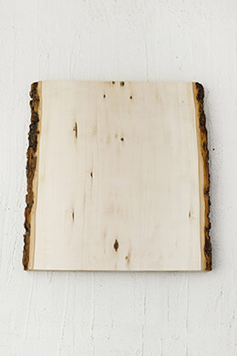 "Wood Plank with Bark 13"" x 11-13"""