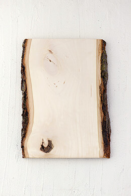 "Wood Plank with Bark 13"" x 9-11"""