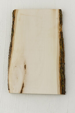 "Wood Plank with Bark 13"" x 7-9"""