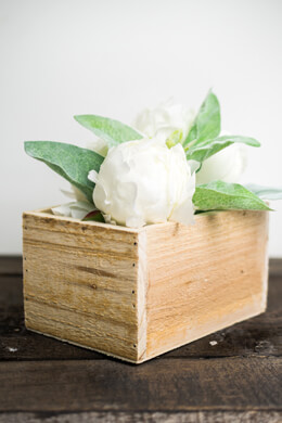 Wood Planter Boxes 4x6in Natural