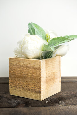 Handmade Wood Planter Boxes with Liner 4in Square