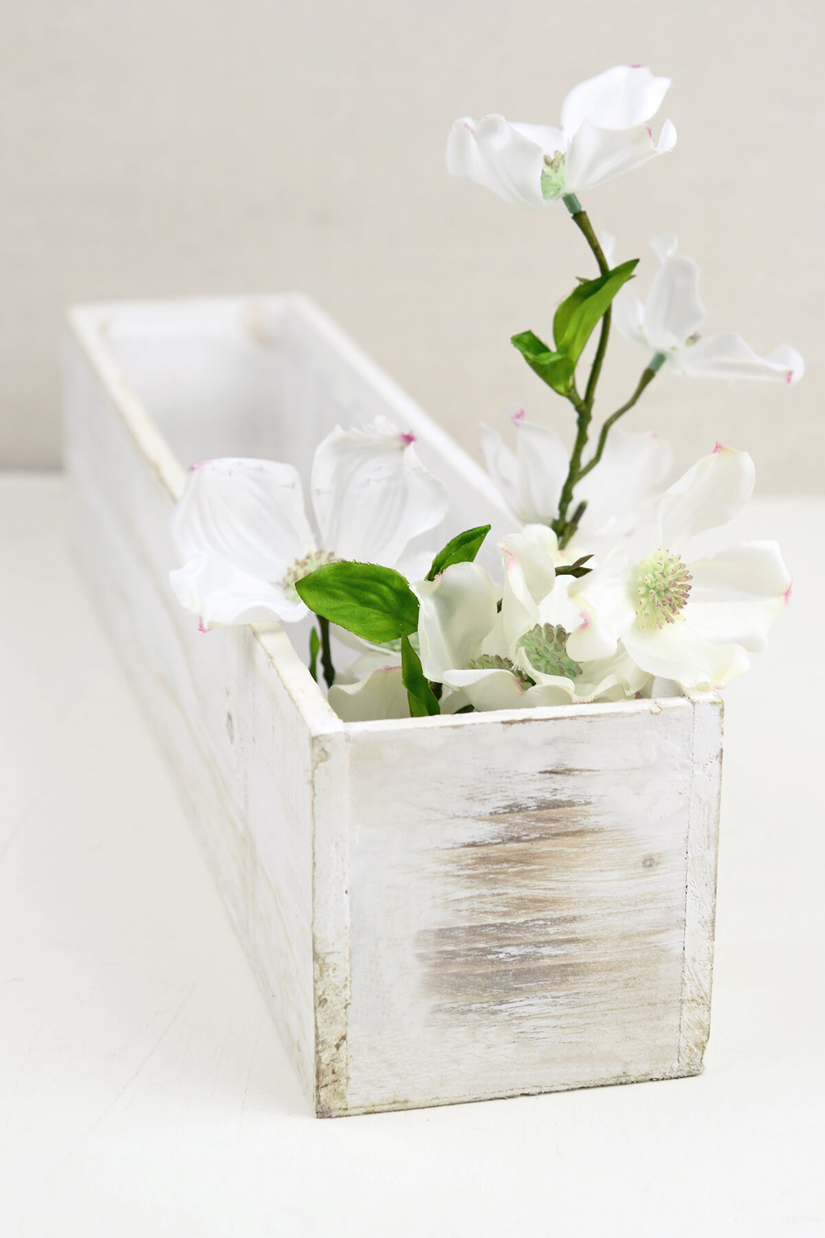White 4x20 Planter Boxes Wood