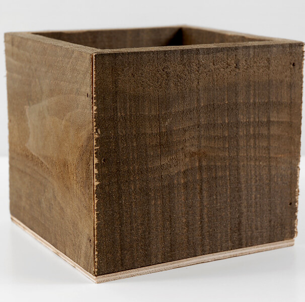 Rustic Planter Box Square 5.5in