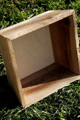 Square Wood Planter 12in
