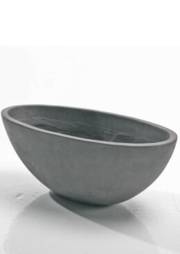 "Newport Boat  Large Resign 22"" Planter, Faux Concrete"