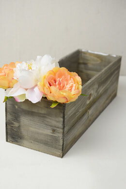 Wood Planter Box with Liner 18  x 6.5