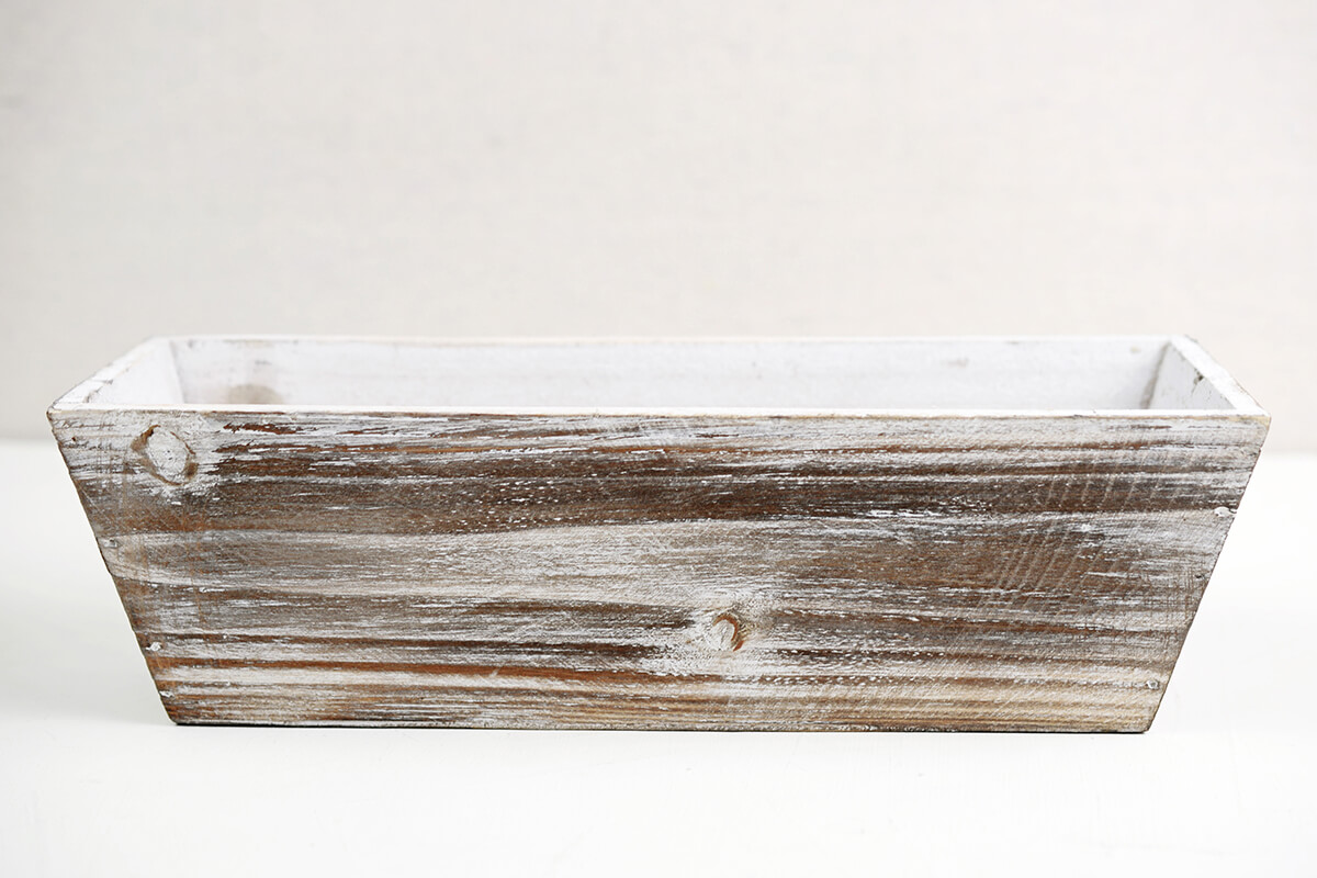 White Washed Tapered 4x12 Planter Boxes Wood