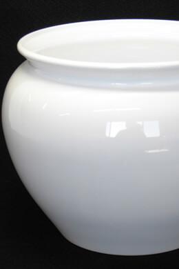 "White Plastic Jardiniere Vase Pot 6.5"""