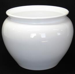 White Plastic Jardiniere Pot