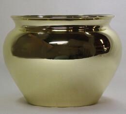 "Plastic Pots Gold 4.5"" Jardiniere"