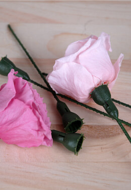 100 Rose Stems for Preserved Roses 4.5 Inch