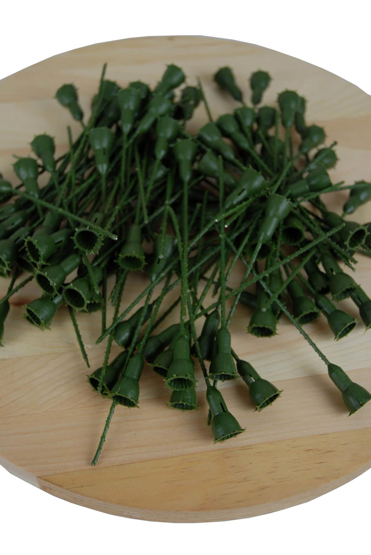 Plastic Rose Stem Large 100 Pieces