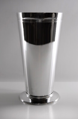 Tall Silver Plastic Mint Julep Cups  7"