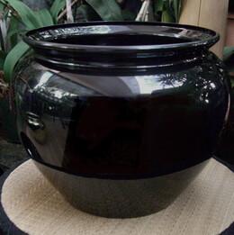 Plastic Vases 6.5 inch Jardiniere Black