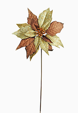 Poinsettia Pick Copper 17in
