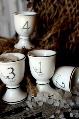 Porcelain French Oef Cups