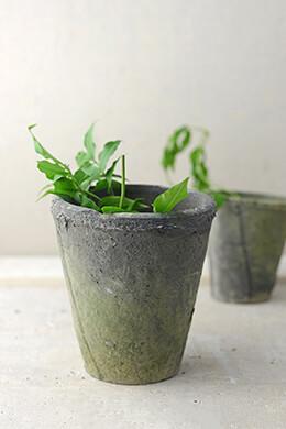 Homespun Cement Pot  5-3/4 Inch