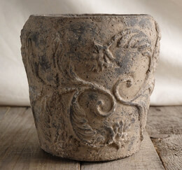 Vine Motif Cement Pot