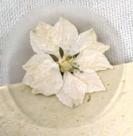 Pressed Flower Envelope Seals White Larkspur Petals