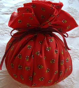 "Provence Lavender Sachet Ball ""Lavande de Provence"" Red"