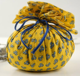 Provence Lavender Sachet w/ Yellow & Blue Fabric