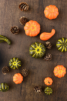 Artificial Pumpkin & Gourd Assortment , 12 pieces