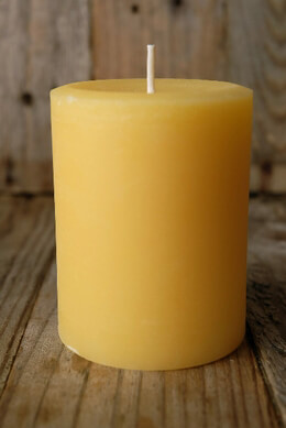 "Pure Beeswax 3"" x 4"" Pillars (60 hr)"