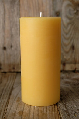 Pure Beeswax Pillars 3x6 Pillar Candles (90 hours)