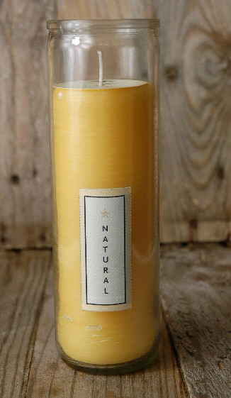 Pure Beeswax Sanctuary Glass Candle 8""
