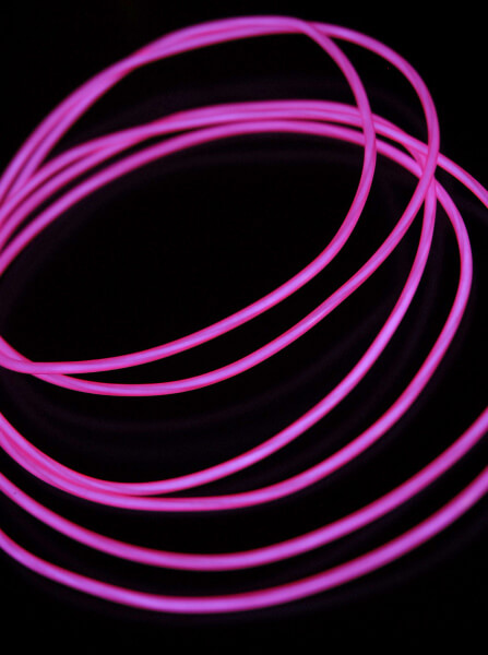 Purple EL Wire 6 ' 2.2mm Battery Operated Set