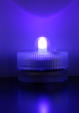 Purple Floralytes Submersible III (blinks,flickers,steady)