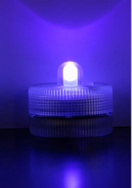 Purple Floralytes Submersible III (blinks,flickers,steady) - Pack of 10