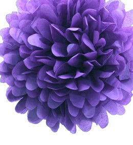 Tissue Paper Pom Poms Lavender 20in | Pack of 4