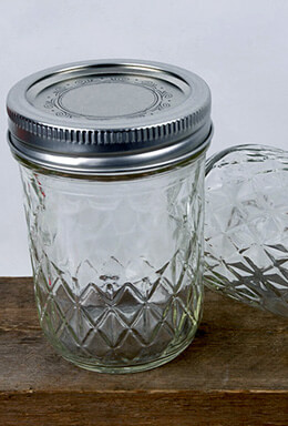 12 Ball 8 Oz. Qulted Crystal Jelly Jars with Lids & Bands