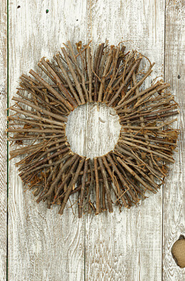 Twig Wreath Radial 16in