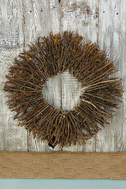 Twig Wreath Radial 24in