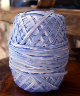 Raffia Ribbon 2 Color : Blue Ombre & White 100 yards