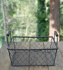 Rustic Rectangle Wire Basket Large
