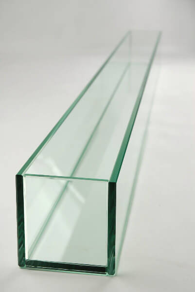"Large 47in Long Thick Glass Display, Candleholder, Planter 47""x4""x4"""