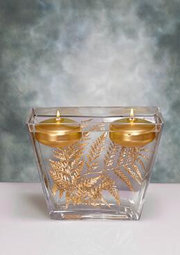 Rectangular Vase Tapered 9.5x4.5x7.5in
