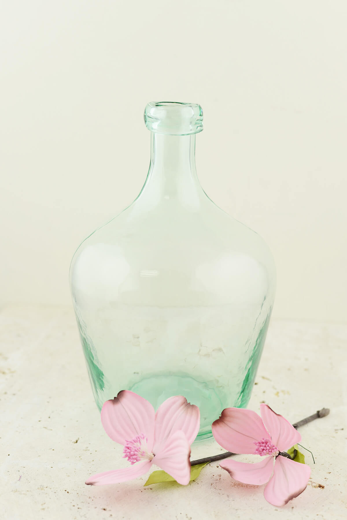 """Aqua Glass Laguna Vase 10"""", Demijohn Terrarium"""