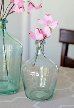 """Aqua Glass Laguna Vase 10"""""""