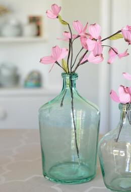 """Aqua Glass Laguna Vase 12"""""""