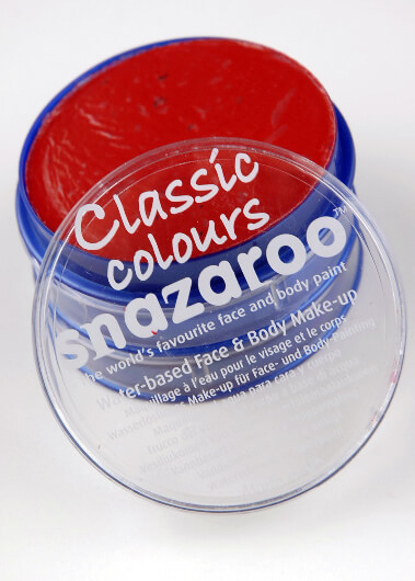 Red Face Paint 18ML Classic Snazaroo