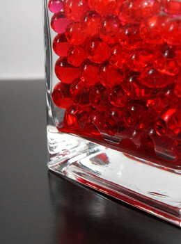 Water Pearls Red Jumbo Size Vase Filler