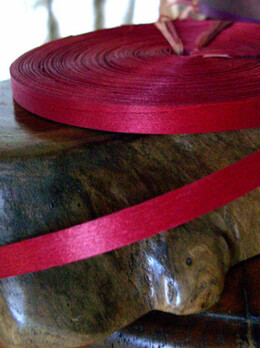 "Red Natural wood strips 3/8"" x 88.5 feet"