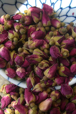 Dried Red Rosebuds - 1 lb