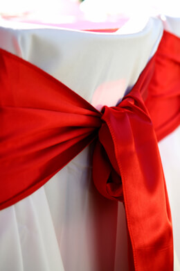 Satin Chair Sashes Red &nbspPack of 10