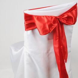 Satin Chair Sashes Red |&nbspPack of 10