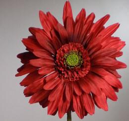 Red Silk Gerbera Daisy 29in